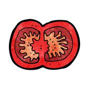 Cartoon sliced tomato Stock Illustration