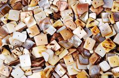 Nacre  beads Stock Photos
