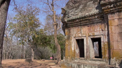 The Khmer temple at Phanom Rung Historical Park - 18 Stock Footage