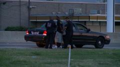 Dallas Sheriff Traffic Stop Arrest Stock Footage