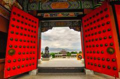 rebuild song dynasty town in dali, yunnan province, china. - stock photo