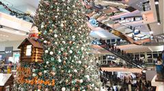 Hong Kong Festival Walk shopping center mall China Asia Stock Footage