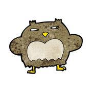 Stock Illustration of cartoon suspicious owl