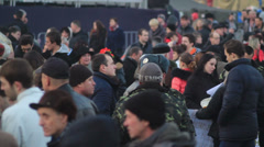 Walking  people  in Kyiv (Maidan Nezavisimotsi.) HD 1080p - stock footage