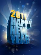2011 new year card illustration | editable eps 10 vector - stock illustration