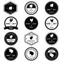 Stock Illustration of Animal farm collection vintage badge | editable eps 10 vector illustration