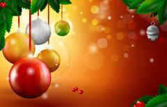 Christmas globs greeting card Stock Illustration