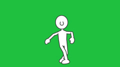 Stick Figure, Popping Dance:  Loopable + Matte - stock footage