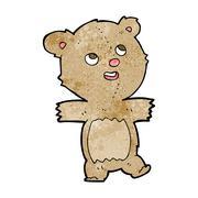 cartoon teddy bear - stock illustration