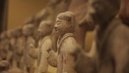 Stock Video Footage of Chinese ancient cultural relic display in Shaanxi Museum