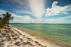key biscayne beach - stock photo