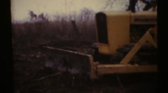 1950's & 60's  vintage, dozer grader Stock Footage