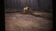 Stock Video Footage of 1950's & 60's  vintage, dozer grader