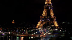 Eiffel Tower Light show Stock Footage
