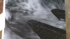 Water power turns the water wheel Stock Footage