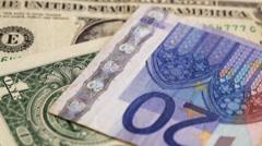 Cash money - euro and dollar bills close up Stock Footage