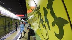 Hong Kong Wanchai MTR metro platform China Asia - stock footage