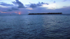 Gulf of Mexico in the late evening in Key West - stock footage