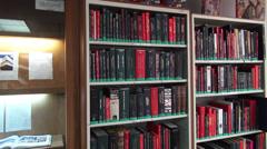 Books, Bookshelf, Reading, Learning, Education Stock Footage