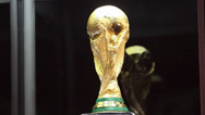 Stock Video Footage of The world cup trophy 2014 - isolated on black
