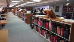 Library, Book Store, Books, Study Hall Stock Footage