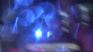 Stock Video Footage of Blue and white police car with flashing light travels along road Catania