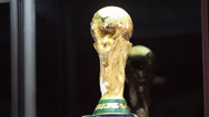 Stock Video Footage of Three short clips of the World Cup Trophy