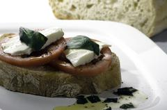 brushetta appetizer - stock photo