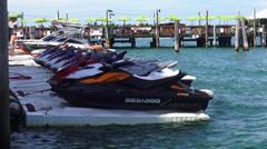 Jet ski rental in Key West Stock Footage