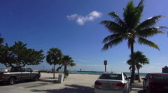 Clarence S Higgs memorial beach Key West Stock Footage