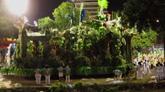 Carnival In Rio De Janeiro 2014 - Sambadrome, Samba School Stock Footage