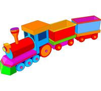 toy train - stock illustration