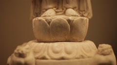 Chinese ancient cultural relic display in Shaanxi Museum Stock Footage