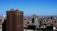 View from Tokyo  Metropolitan Government Building Stock Footage