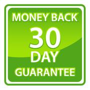 30 days money back guarantee Stock Illustration