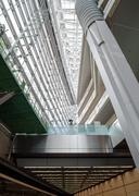interior of futuristic architecture - stock photo