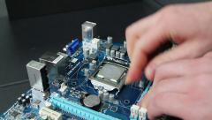 Uninstall CPU and cooler with a motherboard Stock Footage
