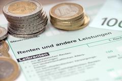 pension tax return - stock photo