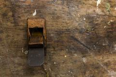 old wooden planer - stock photo