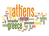 Stock Illustration of athens word cloud