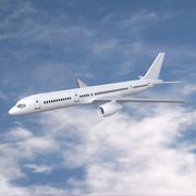 Boeing 757-200 commercial aircraft 3D Model
