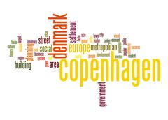copenhagen word cloud - stock illustration