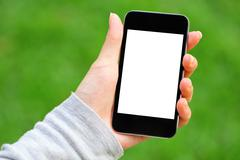 blank screen on mobile - stock photo