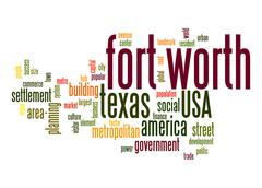 fort worth word cloud - stock illustration