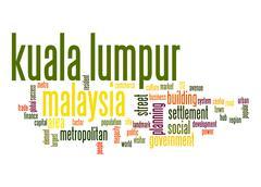 kuala lumpur word cloud - stock illustration