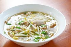 Meat noodles soup Stock Photos