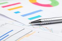 Graphical chart Stock Photos