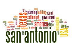 san antonio word cloud - stock illustration