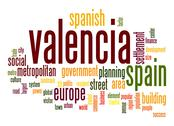 Stock Illustration of valencia word cloud
