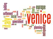 Stock Illustration of venice word cloud